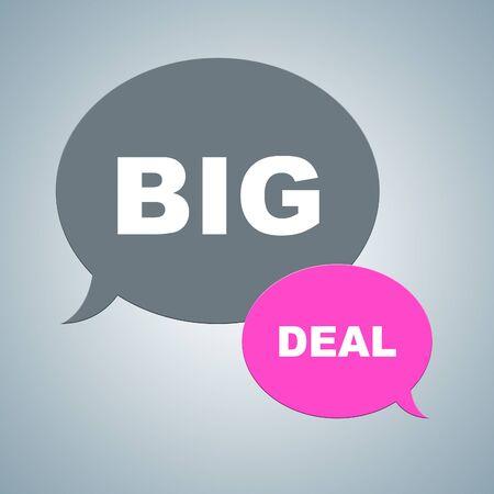 big deal: Big Deal Indicating Hot Deals And Bargains