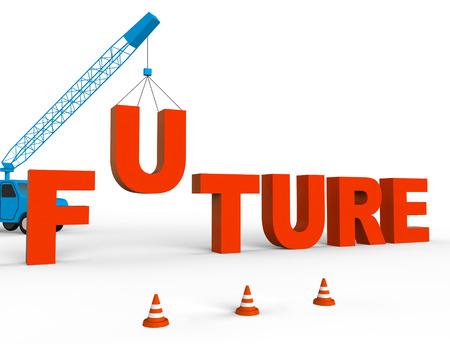 Build Future Representing Destiny Forecast 3d Rendering