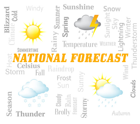 meteorological: National Forecast Showing Meteorological Conditions For The Country