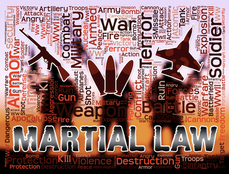 civil rights: Martial Law Meaning Civil Rights Stopped And Coups