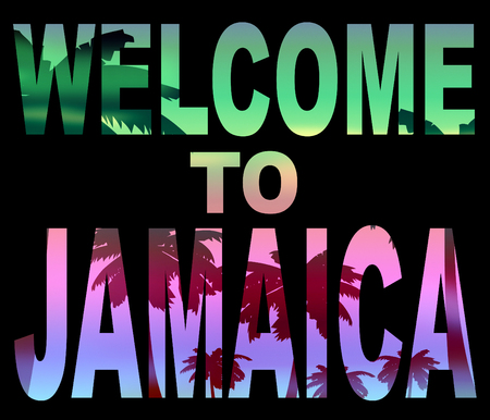 Welcome To Jamaica Showing Caribean Greeting And Vacation