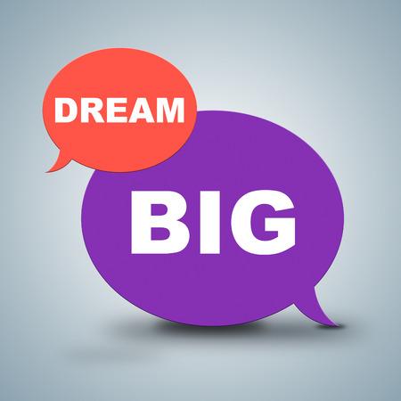 daydream: Dream Big Showing Aim Hope And Goals