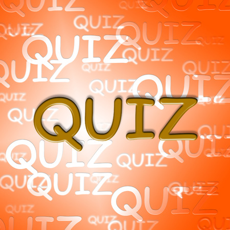 quizzes: Quiz Words Representing Questions And Answers Puzzle