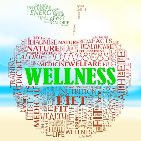 preventive medicine: Wellness Apple Representing Preventive Medicine And Wellbeing Stock Photo