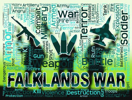 falklands war: Falklands War Military Equipment Shows Malvinas Hostilities And Fighting