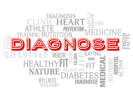 diagnosing: Diagnose Words Representing Illness Examination And Diagnosing
