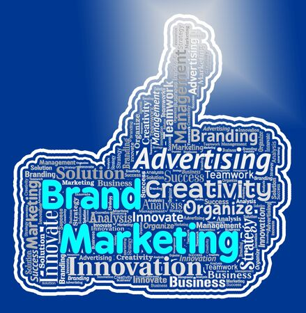 Brand Marketing Thumb Indicating Company Identity And Branding