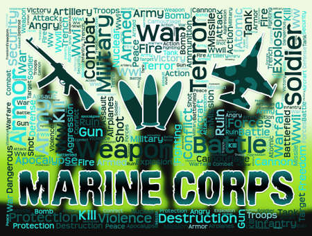 corps: Marine Corps Representing Military Action And Warfare Stock Photo