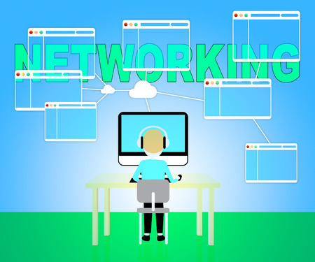 connectivity: Online Networking Showing Global Connectivity And Communication Stock Photo
