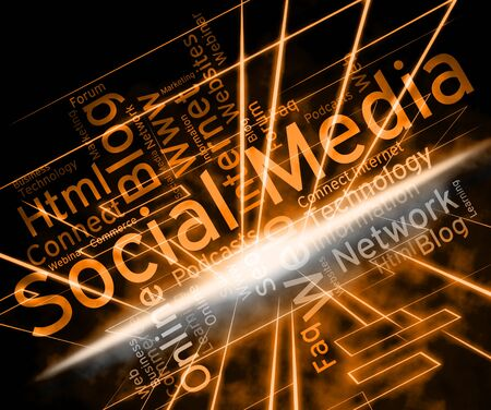 forums: Social Media Representing Online Posts And Forums Stock Photo