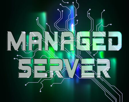 managed: Managed Server Indicating Computer Servers And Connectivity