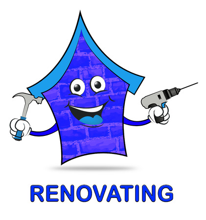 make over: House Renovating Meaning Make Over Home Or Property Stock Photo
