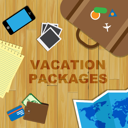 inclusive: Vacation Packages Meaning All Inclusive Getaways And Holidays Stock Photo
