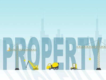 constructing: Property Construction Meaning Real Estate 3d Illustration
