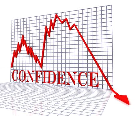 believing: Confidence Graph Negative Meaning Faith Downturn 3d Rendering
