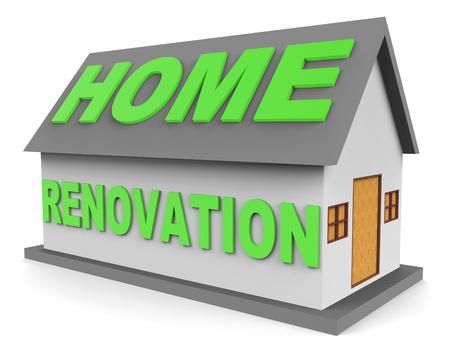 improving: Home Renovation Meaning Improving Real Estate 3d Rendering