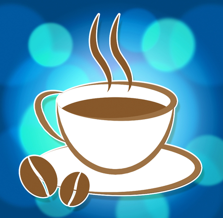 Coffee Cup Icon Meaning Symbol Cafe And Beverage Stock Photo