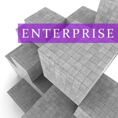 ventures: Enterprise Blocks Representing Company Ventures 3d Rendering