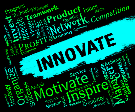 breakthrough: Innovative Words Representing Creative Breakthrough And Idea