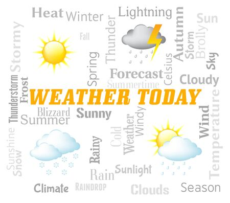 meteorological: Weather Today Showing Outlook And Forecast Now