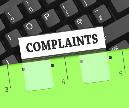 complaints: Complaints File On Keyboard Indicates Dissatisfied Customers 3d Rendering