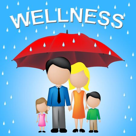 relatives: Family Wellness Meaning Health Check And Relatives Stock Photo