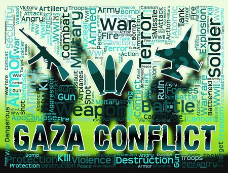 palestinian: Gaza Conflict Meaning Palestinian Battles And Fighting