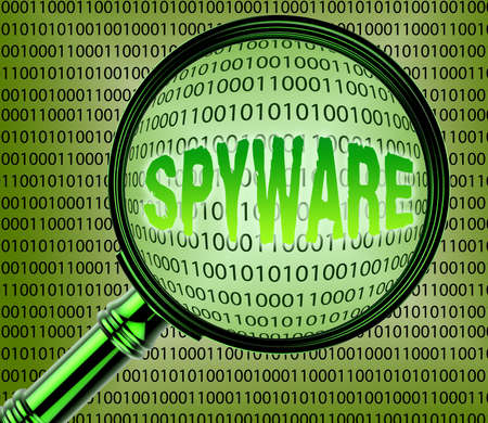 spyware: Computer Spyware Showing Internet Spy 3d Rendering Stock Photo