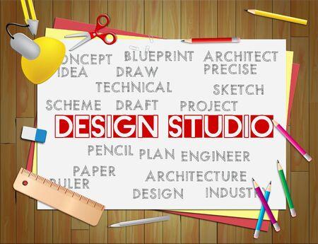 design office: Design Studio Showing Designer Office And Drawing