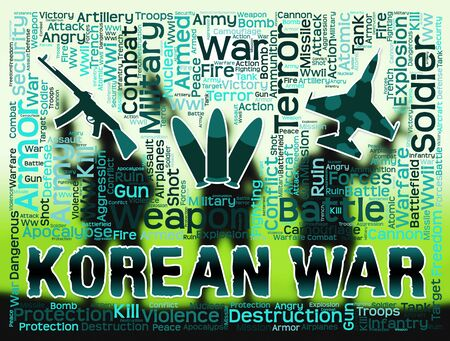 koreans: Korean War Indicating Military Action In Korea
