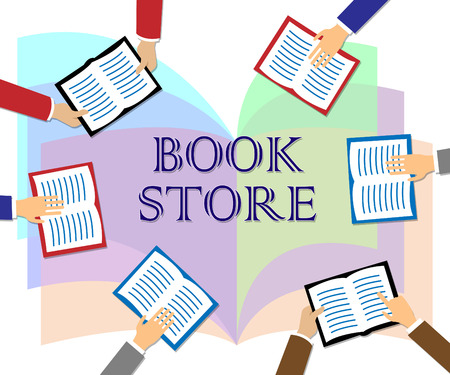 book store: Book Store Indicating Fiction And Education Retail Stock Photo