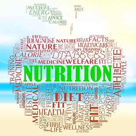 nourishment: Nutrition Apple Words Means Food Nutriments And Nourishment