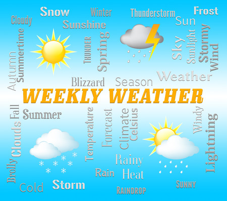 forecasts: Weekly Weather Meaning Seven Day Forecast Or Metcast