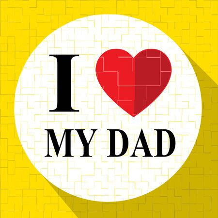 superb: Love My Dad Heart Represents Amazing Superb Father