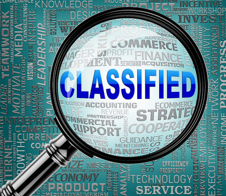 confidentially: Classified Magnifier Indicating Restricted Information 3d Rendering