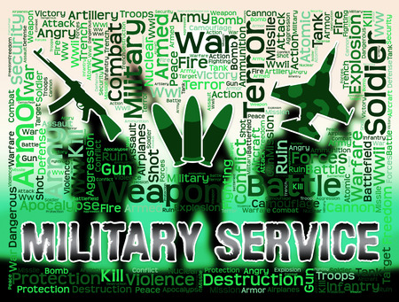 armed services: Military Service Meaning Defense Forces And Army Stock Photo