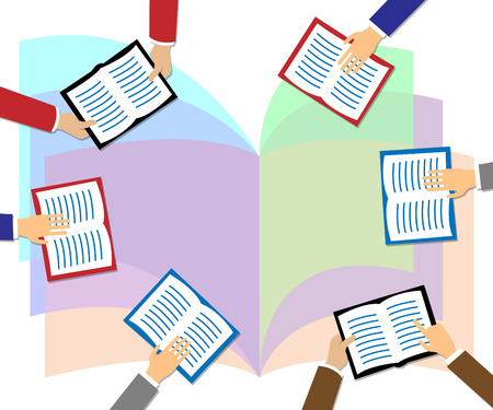 copyspace: Books With Copyspace Meaning Study And Knowledge Stock Photo