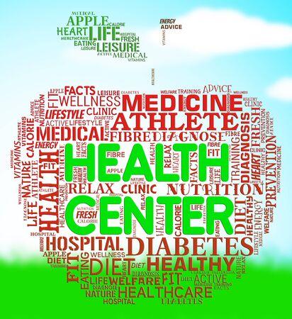 preventive medicine: Health Center Meaning Preventive Medicine And Healthcare Stock Photo