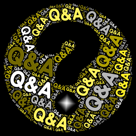 enquire: Q&A Question Mark Representing Questions And Answers Information