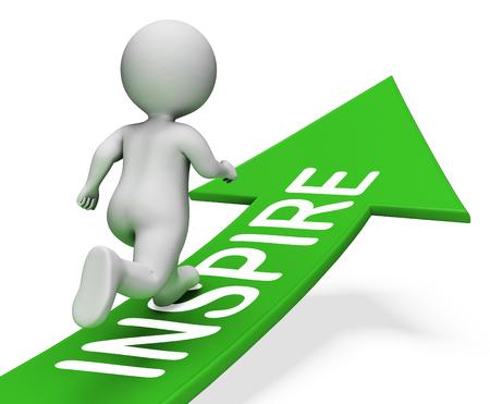 Inspire Arrow Indicating Act Now 3d Rendering