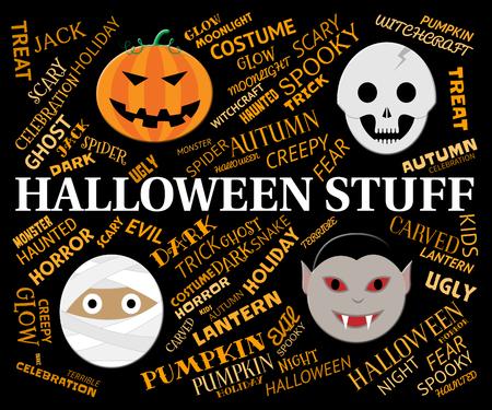 stuff: Halloween Stuff Meaning Spookky And Horror Gear