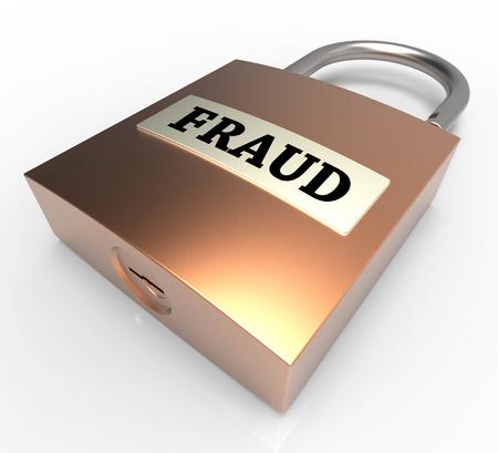 hoax: Fraud Padlock Showing Rip Off 3d Rendering Stock Photo