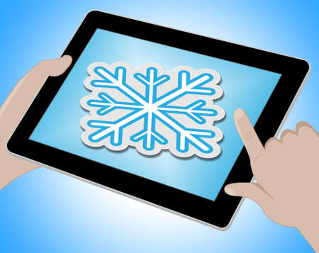 wintry weather: Snow Forecast Online Meaning Bad Weather 3d Illustration