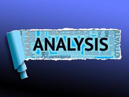 Analysis Word Showing Data Analyze And Analyzing