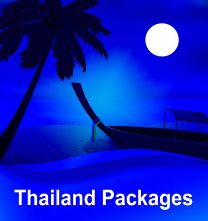 fully: Thailand Packages Beach By Moonlight Shows Fully Inclusive 3d Illustration