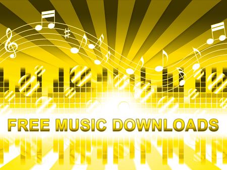Free Music Downloads Design Shows No Cost Mp3