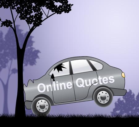 insure: Online Quotes Crash Shows Car Policies 3d Illustration