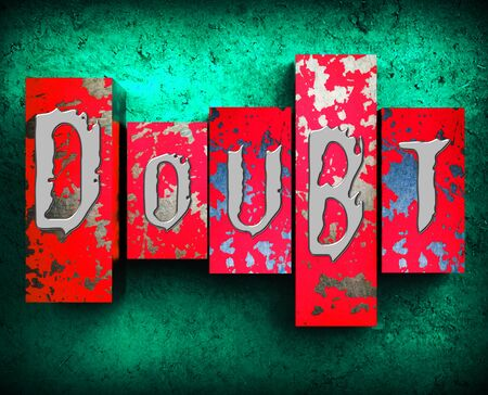 melancholy: Doubt Word Showing Melancholy Fatalistic 3d Illustration