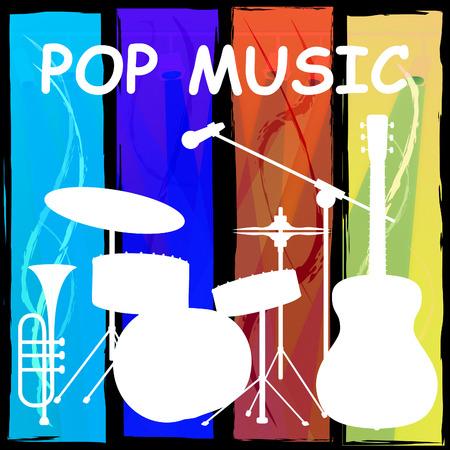 harmonies: Pop Music Drum Kit Representing Harmonies Track And Song Stock Photo