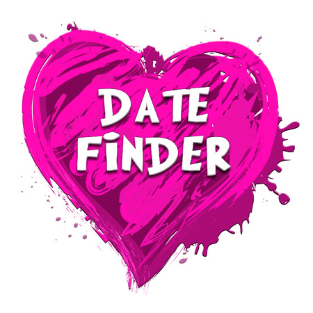finders: Date Finder Heart Design Indicating Search For Love 3d Illustration
